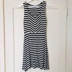 Charlotte Russe White & Black striped dress: